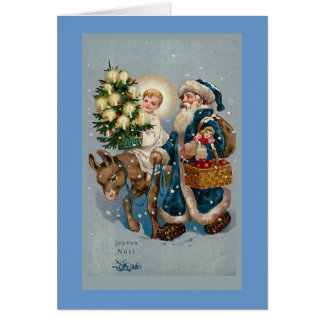 """Vintage French Christmas Card"" Card"