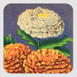 Vintage French Chrysanthemum Flower Seed Package Stickers
