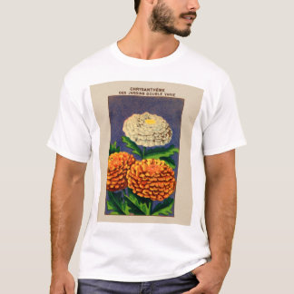 Vintage French Chrysanthemum Flower Seed Package T-Shirt