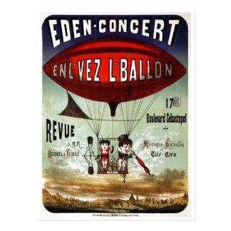Vintage French Circus Performance Postcard