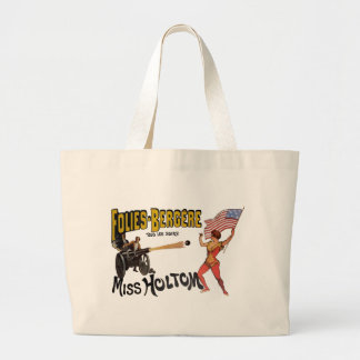 Vintage French Circus Sideshow Poster Large Tote Bag