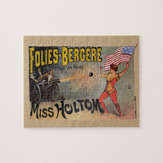 Vintage French Circus Sideshow Poster Puzzles