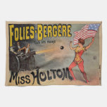 Vintage French Circus Sideshow Poster Towels