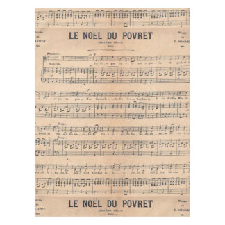 Vintage french classical music sheet paper tablecloth