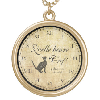 Vintage French Clock Necklace