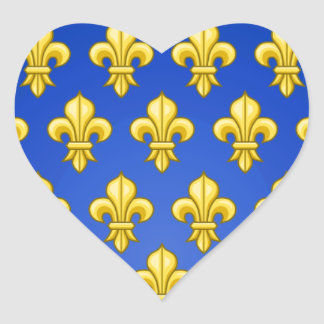 VINTAGE FRENCH COAT OF ARMS HEART STICKER