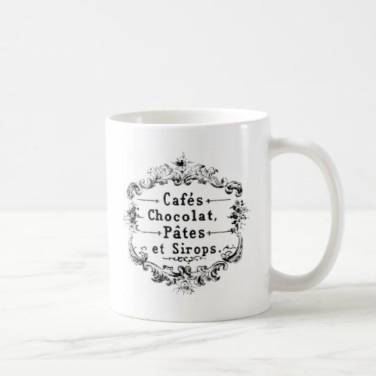 Vintage French Coffee & Chocolate Label Coffee Mug