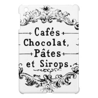 Vintage French Coffee & Chocolate Label iPad Mini Case