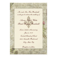 Vintage French Collage Wedding Invitation
