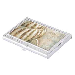 Shell business card holders cases zazzle vintage french conch shell business card case colourmoves