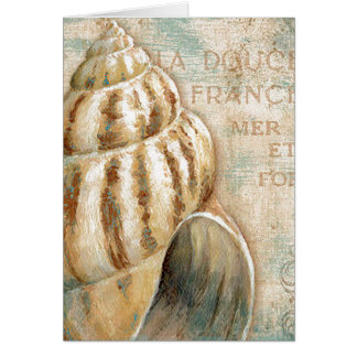 Vintage French Conch Shell Card
