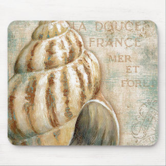 Vintage French Conch Shell Mouse Pad