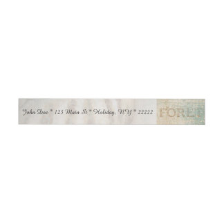 Vintage French Conch Shell Wrap Around Address Label