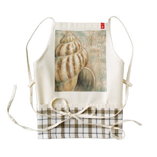 Vintage French Conch Shell Zazzle HEART Apron