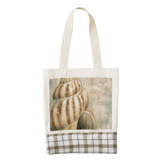 Vintage French Conch Shell Zazzle HEART Tote Bag