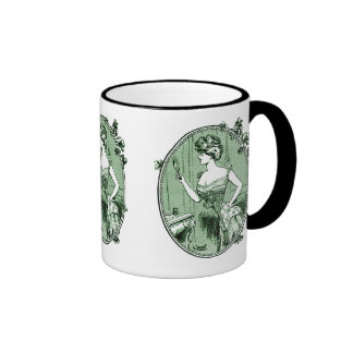 Vintage French corset advertisement green Coffee Mugs