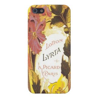 Vintage French Cosmetic label Feminine iPhone 5 Case