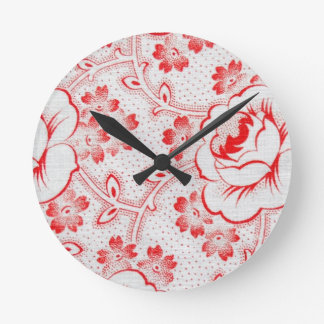 Vintage French Cotton Fabric Clock Face