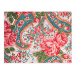 Vintage French Cotton Fabric Postcards