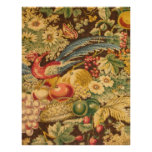 Vintage French Country Bird Floral Art Print
