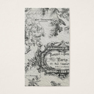 Vintage French Country Black Painting Business Card