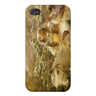 Vintage French Country Lady Horse iPhon iPhone 4 Case