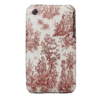 Vintage French Country Red Toile iPhone 3G-3GS Case-Mate iPhone 3 Cases