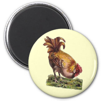 Vintage French Country Rooster Fridge Magnet