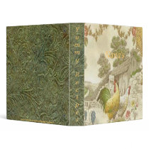 Vintage French Country Rooster/Hen Avery Binder