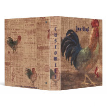 Vintage French Country Rooster Notebook Binder