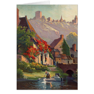 Vintage French Countryside Greeting Card