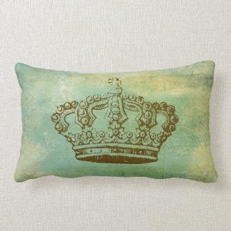 Vintage French Crown Lumbar Throw Pillow