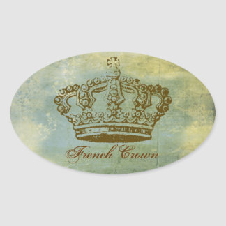 Vintage French Crown Personalized Stickers