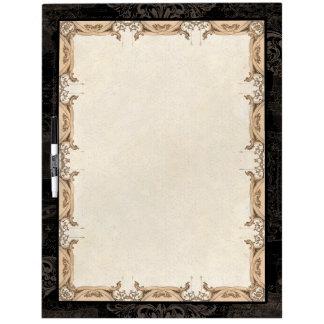 Vintage French Damask Antique Decorative Swirl Dry Erase White Board