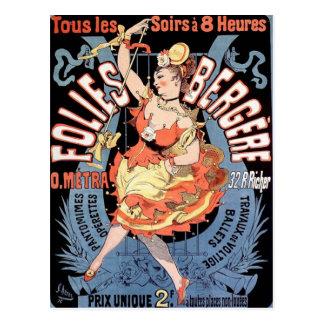 Vintage French Dancer Postcard
