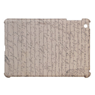 Vintage French Document 18th Century iPad Mini Cover