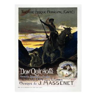 Vintage French Don Quixote Opera Postcard