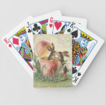 "Vintage French Easter bunnies Bicycle Playing Cards<br><div class=""desc"">Vintage French Easter bunnies</div>"
