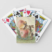 Vintage French Easter bunnies Bicycle Playing Cards