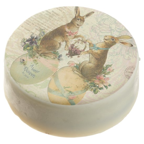 Vintage French Easter bunnies Chocolate Dipped Oreo