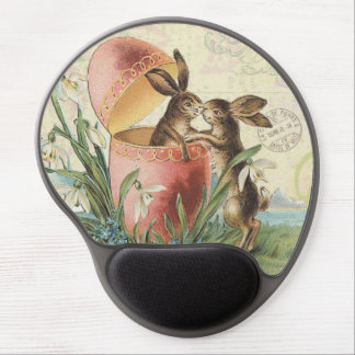 Vintage French Easter bunnies Gel Mouse Pad