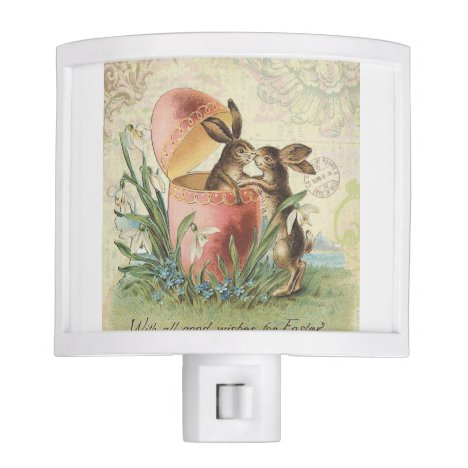 Vintage French Easter bunnies Night Light
