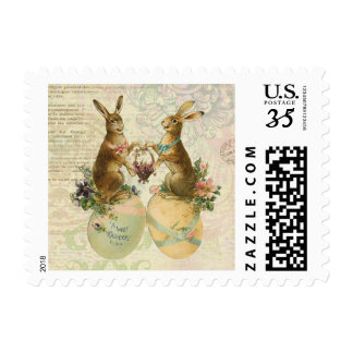 Vintage French Easter bunnies Postage