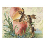 Vintage French Easter Bunnies Postcard at Zazzle