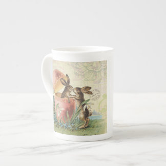 Vintage French Easter bunnies Tea Cup