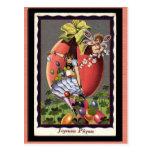 Vintage French Easter Postcard