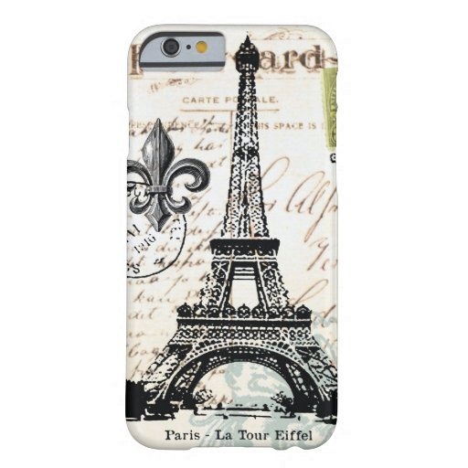 Vintage French Eiffel Tower iPhone 6 case
