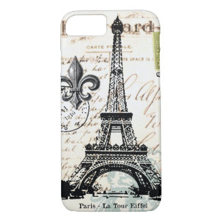 Vintage French Eiffel Tower iPhone 7 case