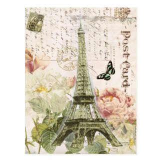 Vintage French Eiffel Tower postcard