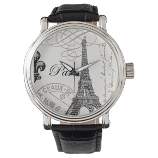 Vintage French Eiffel Tower watch